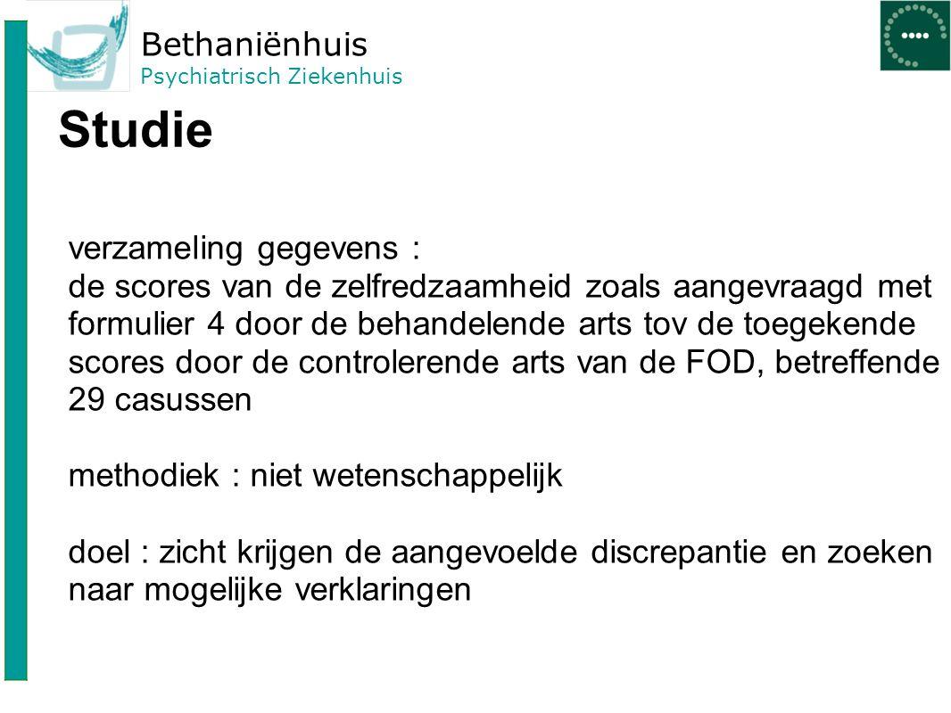 Bethaniënhuis Psychiatrisch Ziekenhuis Rol van chroniciteit.