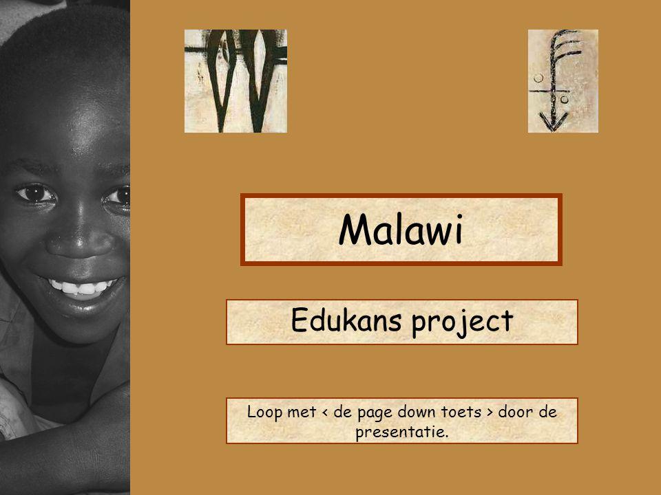 Malawi Edukans project Loop met door de presentatie.