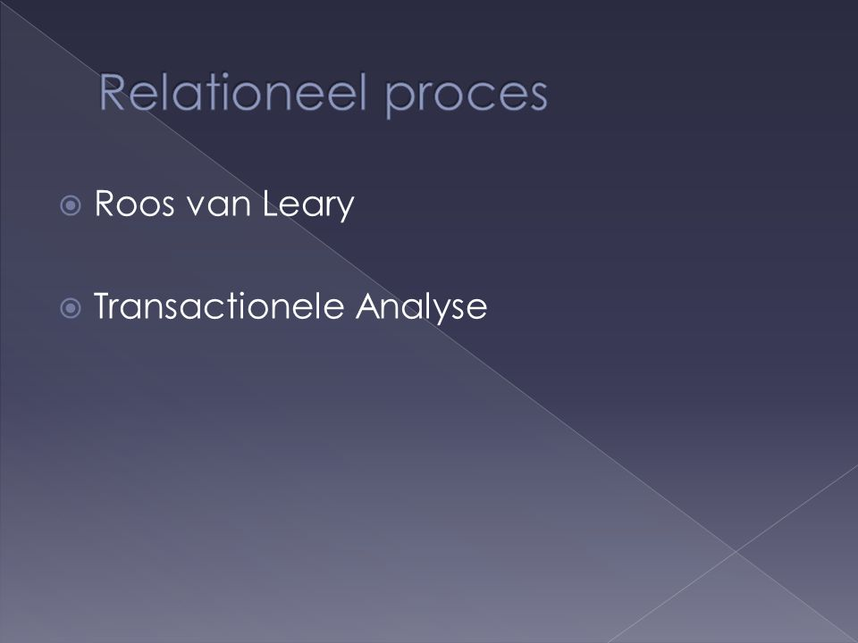  Roos van Leary  Transactionele Analyse