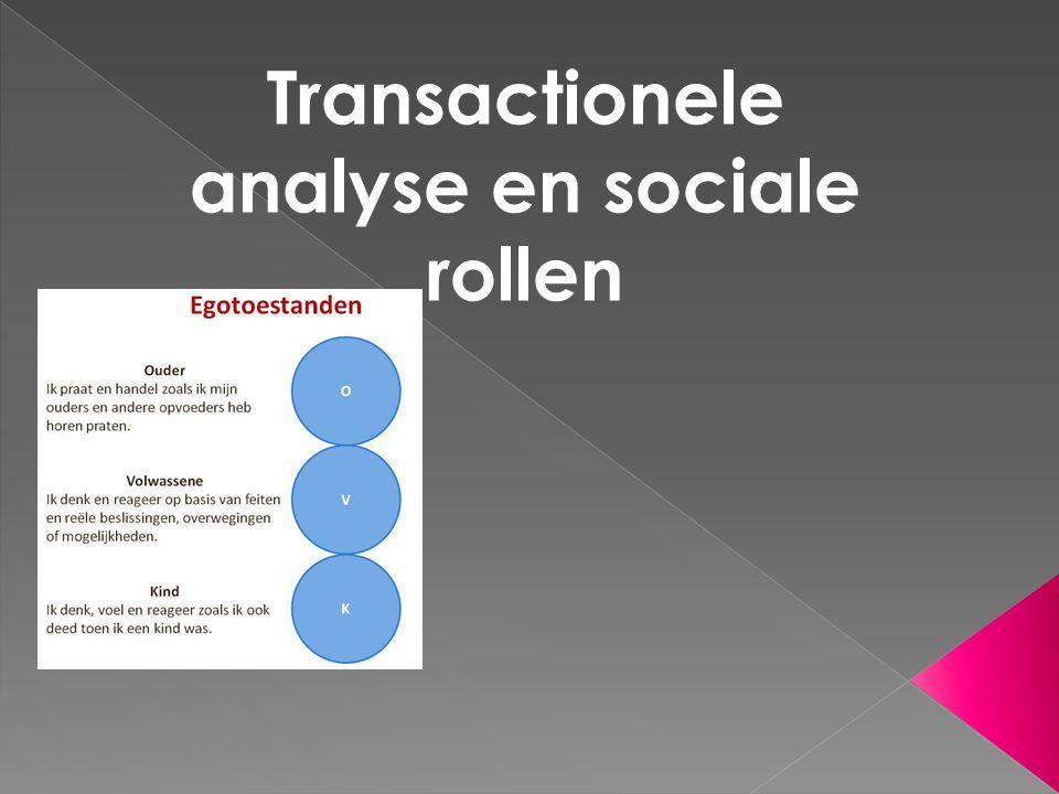 Transactionele analyse en sociale rollen