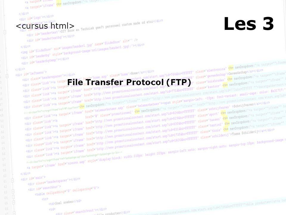 Les 3 File Transfer Protocol (FTP)