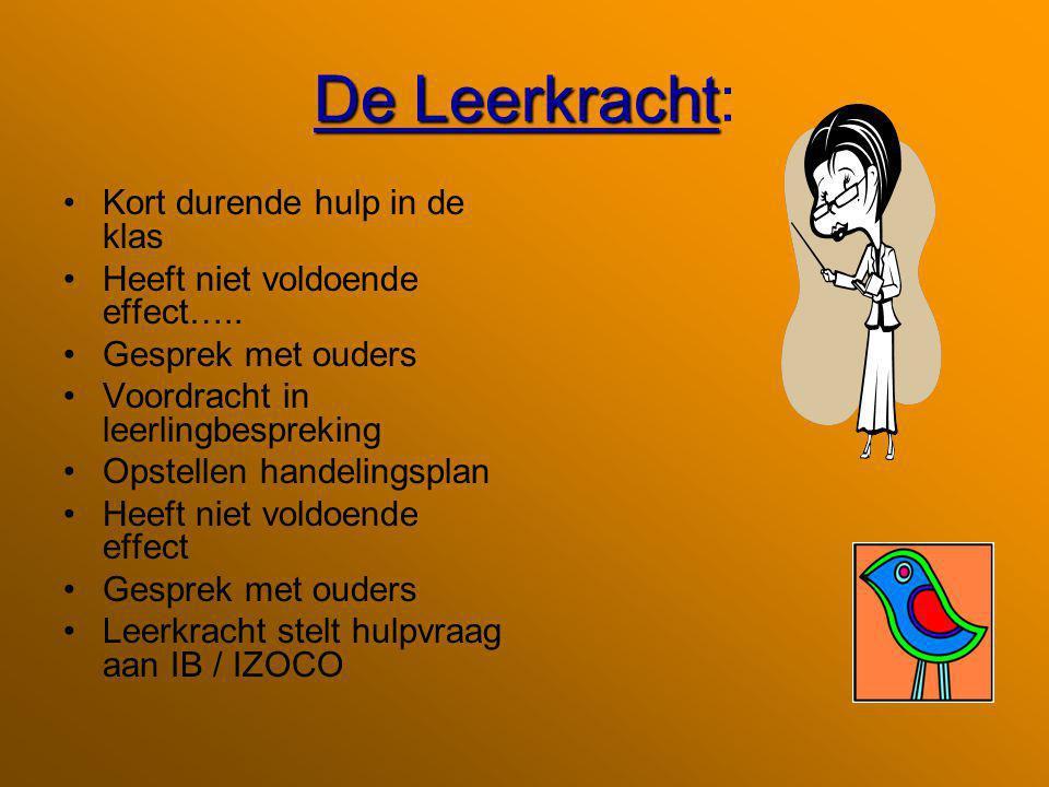 De Leerkracht De Leerkracht: Kort durende hulp in de klas Heeft niet voldoende effect…..