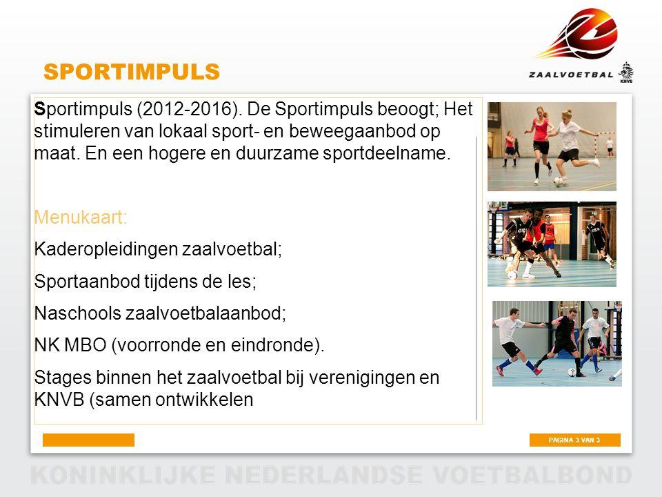 PAGINA 3 VAN 3 SPORTIMPULS Sportimpuls (2012-2016).