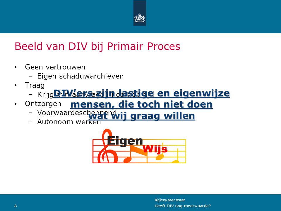 Rijkswaterstaat 8Heeft DIV nog meerwaarde.