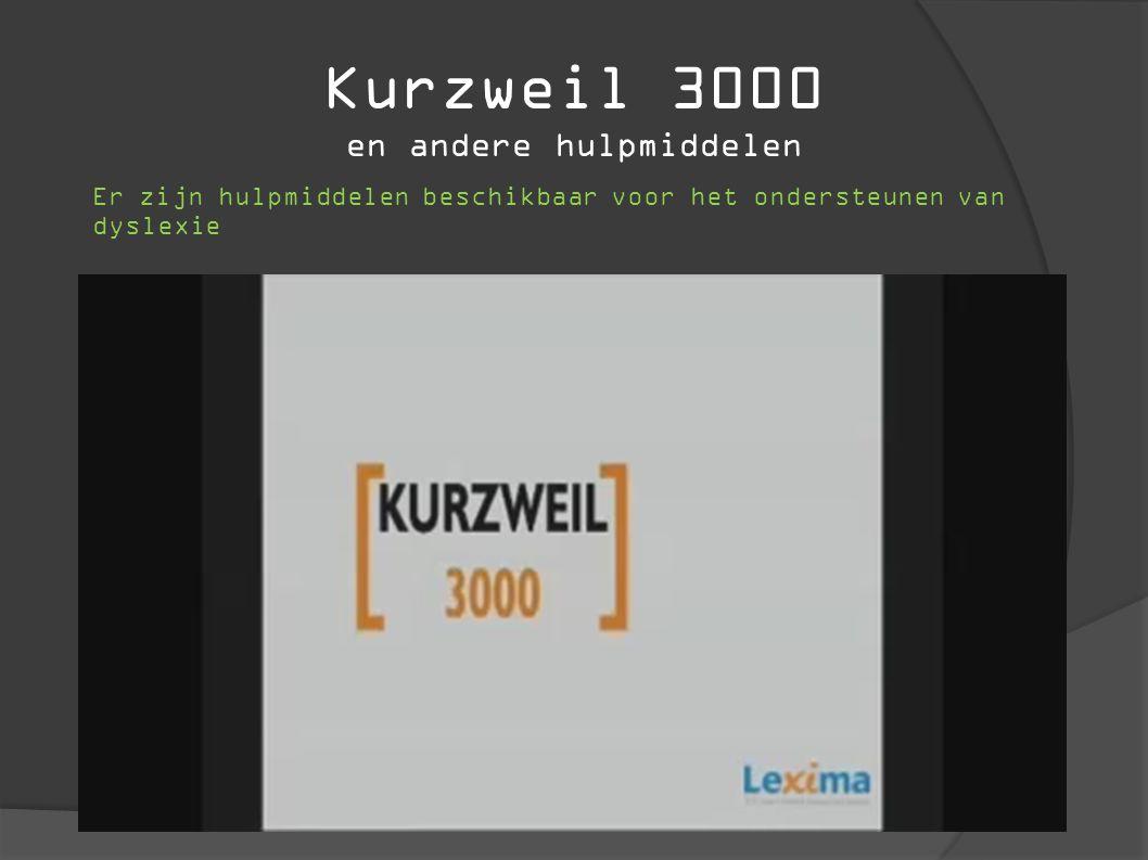 Kurzweil 3000 en andere hulpmiddelen Er zijn hulpmiddelen beschikbaar voor het ondersteunen van dyslexie