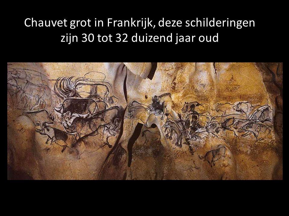 Chauvet grot in Frankrijk, deze schilderingen zijn 30 tot 32 duizend jaar oud