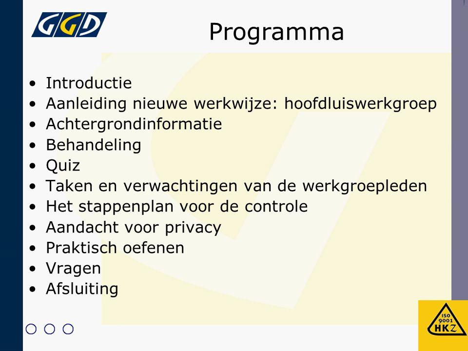 Aanleiding nieuwe werkwijze Iedereen kan het krijgen Verantwoordelijkheid van: –Ouders –Opvoeding, vorming en verzorging – School – Aanvullende stimulerende en bewakende rol – Verantwoordelijk voor leefklimaat op school –GGD West-Brabant – Advisering