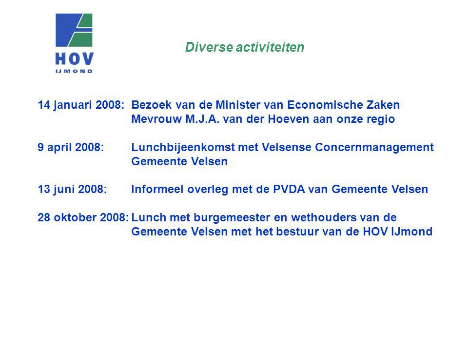 14 januari 2008: Bezoek van de Minister van Economische Zaken Mevrouw M.J.A.