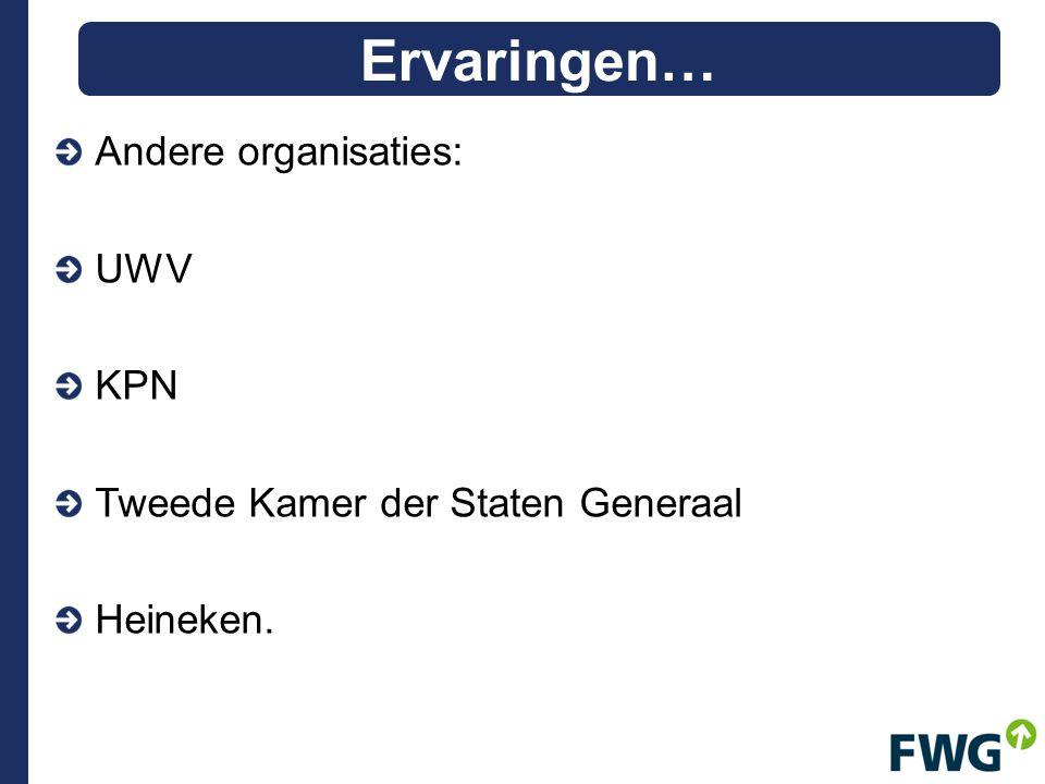 Andere organisaties: UWV KPN Tweede Kamer der Staten Generaal Heineken. Ervaringen…