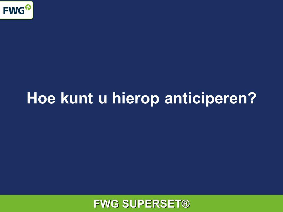 FWG SUPERSET® Hoe kunt u hierop anticiperen?