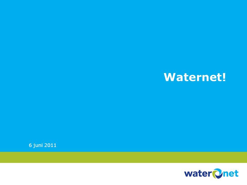 Imago 2010 (onderzoek Intermediair) 46% kent Waternet als werkgever 42% van de starters zou er willen werken 25% van de professionals zou er willen werken