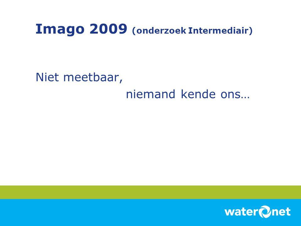 Imago 2009 (onderzoek Intermediair) Niet meetbaar, niemand kende ons…