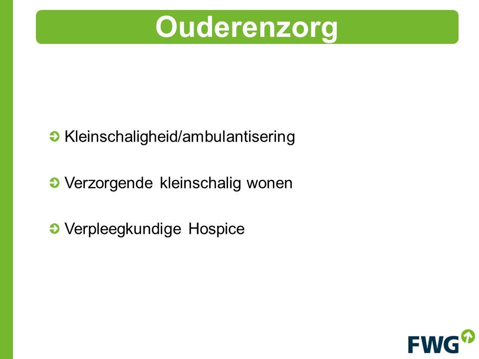 Kleinschaligheid/ambulantisering Verzorgende kleinschalig wonen Verpleegkundige Hospice Ouderenzorg