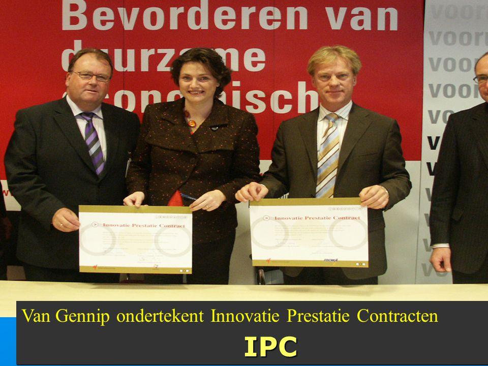 Van Gennip ondertekent Innovatie Prestatie ContractenIPC IPC