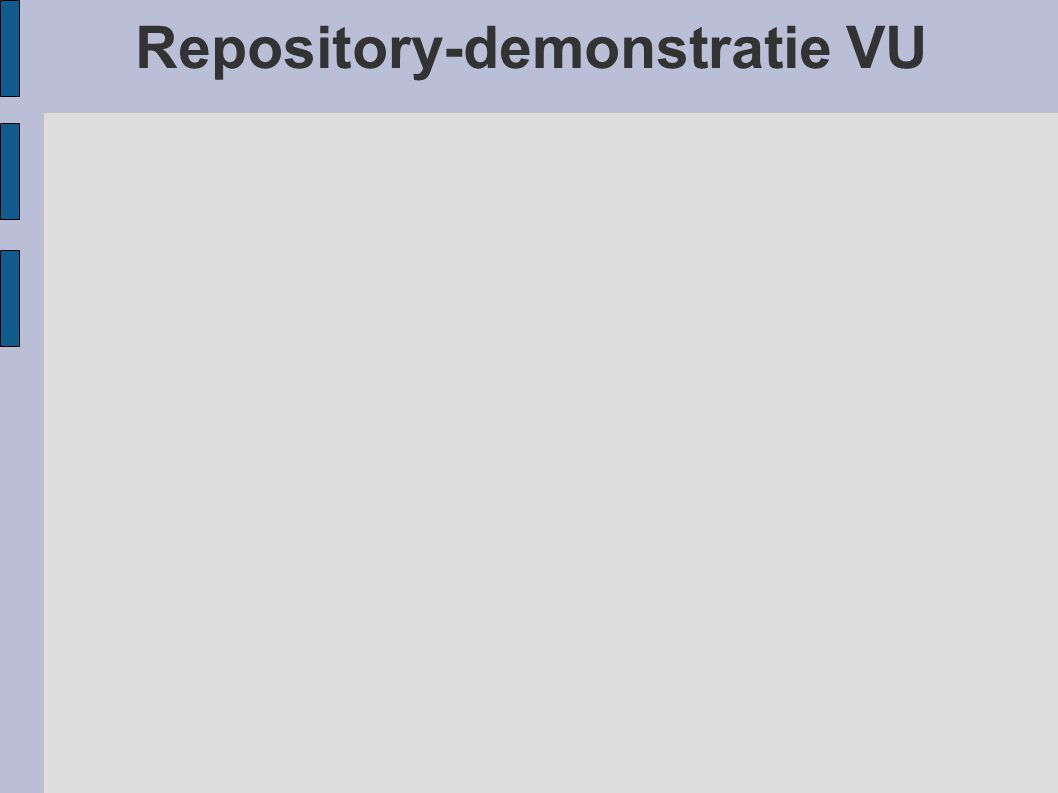 Repository-demonstratie VU