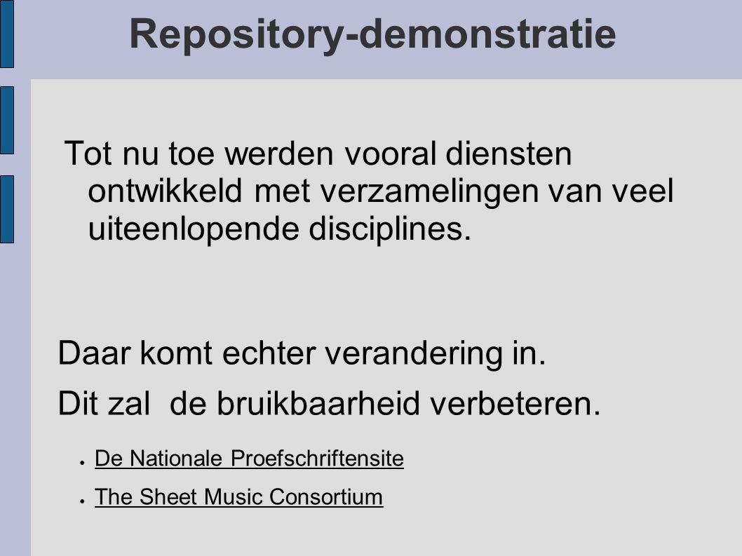 Repository-demonstratie De Koninklijke Bibliotheek maakt gebruik van dare_didl. De KB zal de komende tijd de documenten in de repositories archiveren.