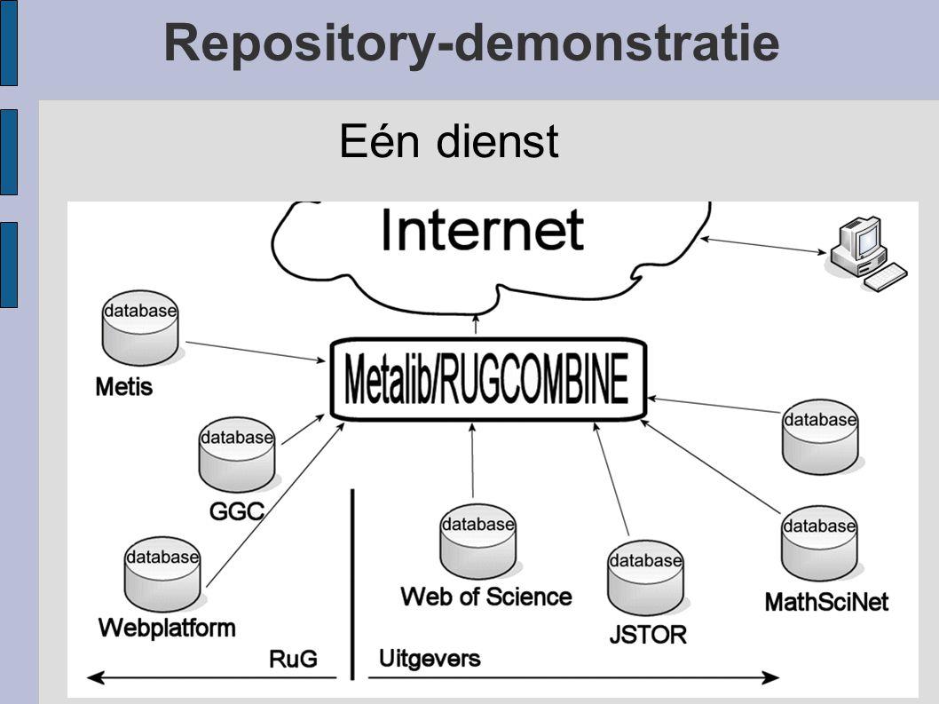 Repository-demonstratie Eén dienst