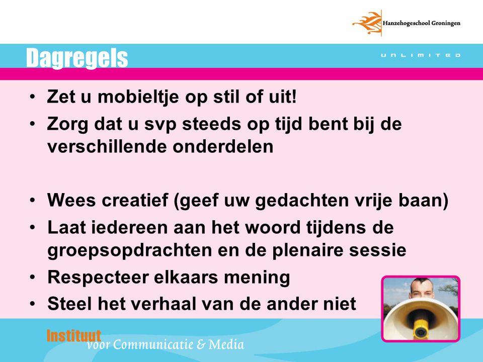 Programma van deze ochtend 9.15Opening door Kees Westerkamp 3.0 (zaal 13) Opleiding IDM/ Media & Informatiemanagement (Groningen) 9.30Bijdrage van dr.