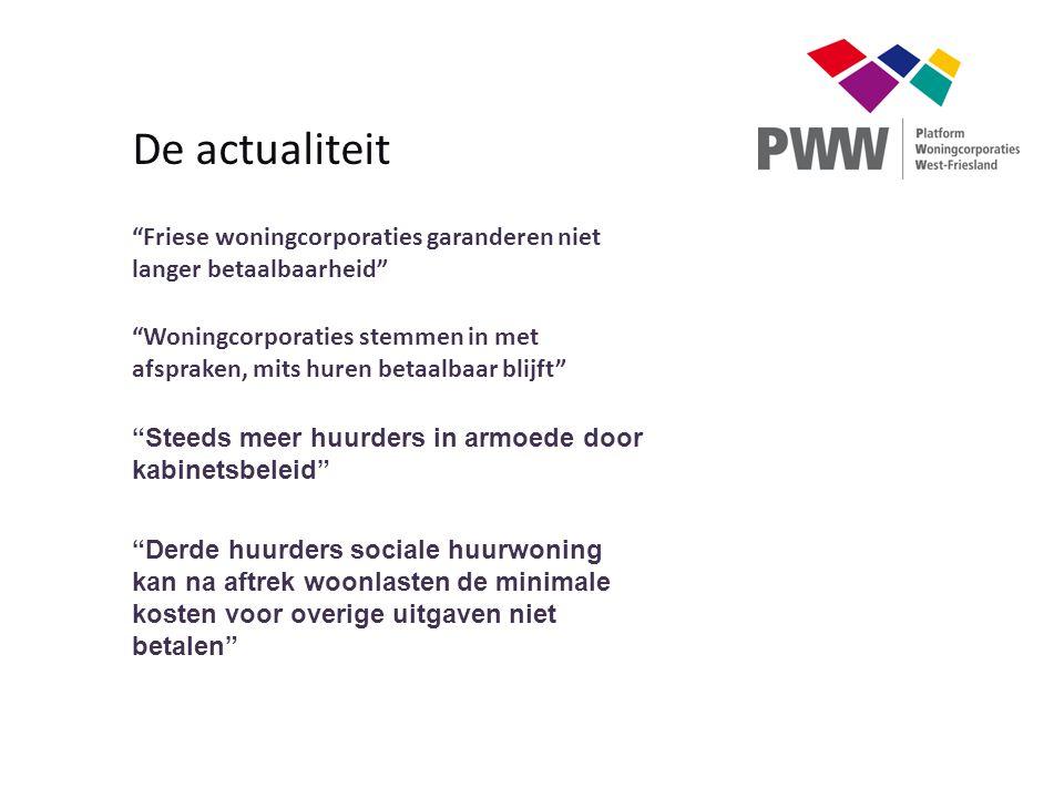"""""""Friese woningcorporaties garanderen niet langer betaalbaarheid"""" """"Woningcorporaties stemmen in met afspraken, mits huren betaalbaar blijft"""" """"Steeds me"""