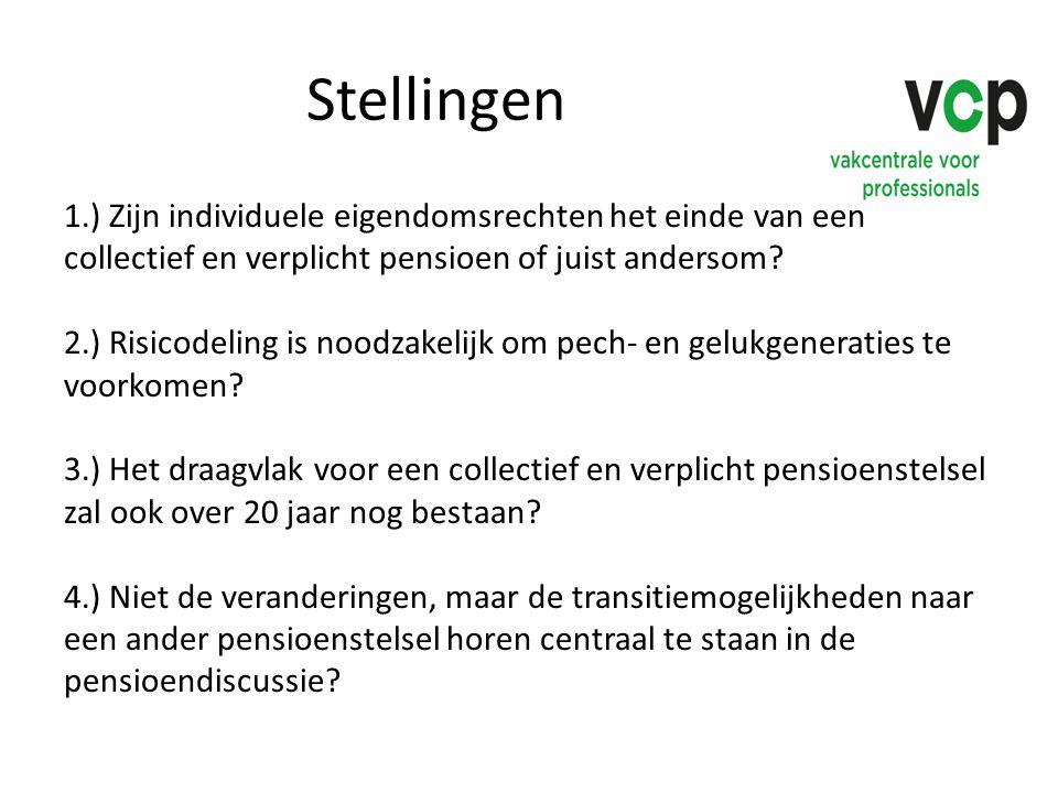 Stellingen 1.) Zijn individuele eigendomsrechten het einde van een collectief en verplicht pensioen of juist andersom? 2.) Risicodeling is noodzakelij