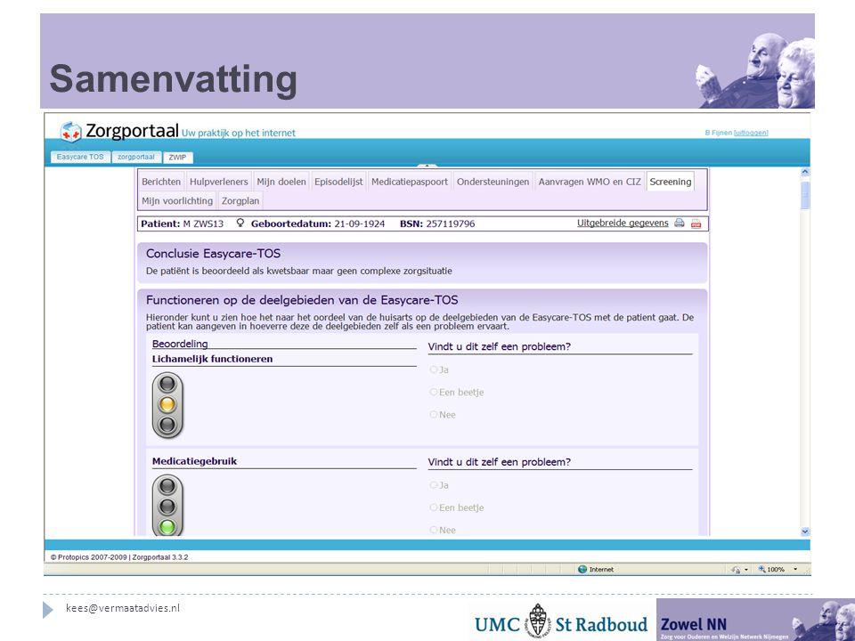 Samenvatting kees@vermaatadvies.nl