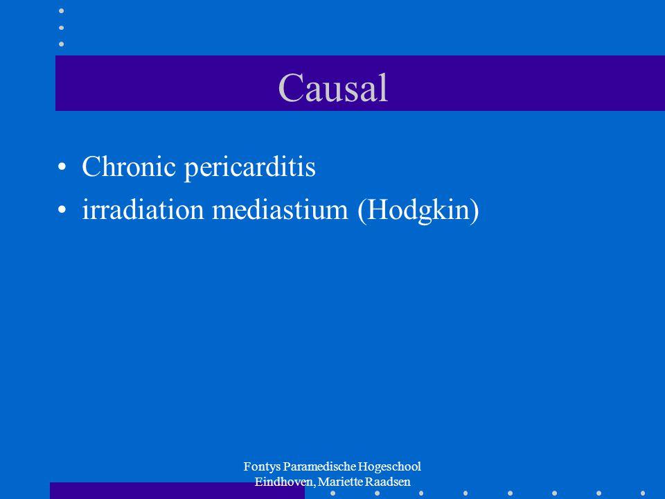 Fontys Paramedische Hogeschool Eindhoven, Mariette Raadsen Causal Chronic pericarditis irradiation mediastium (Hodgkin)