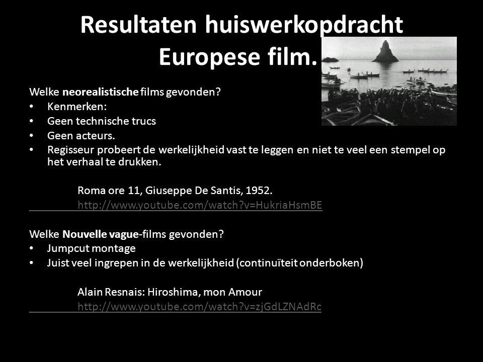Resultaten huiswerkopdracht Europese film.Welke neorealistische films gevonden.
