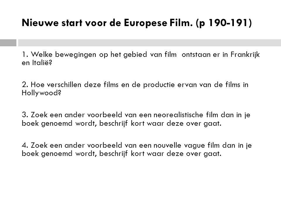 Nieuwe start voor de Europese Film.(p 190-191) 1.