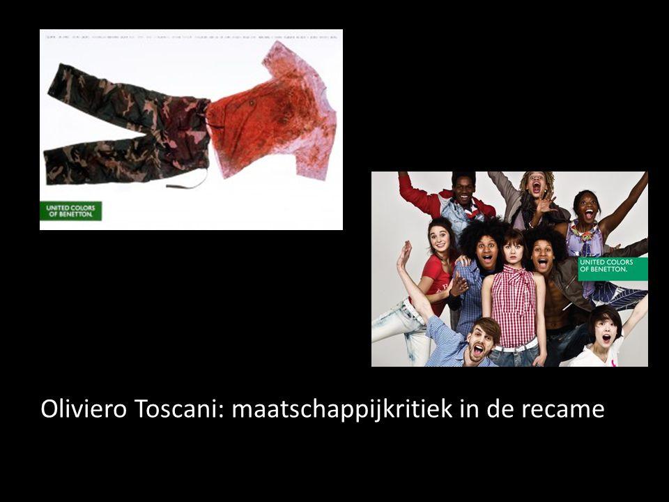 Oliviero Toscani: maatschappijkritiek in de recame