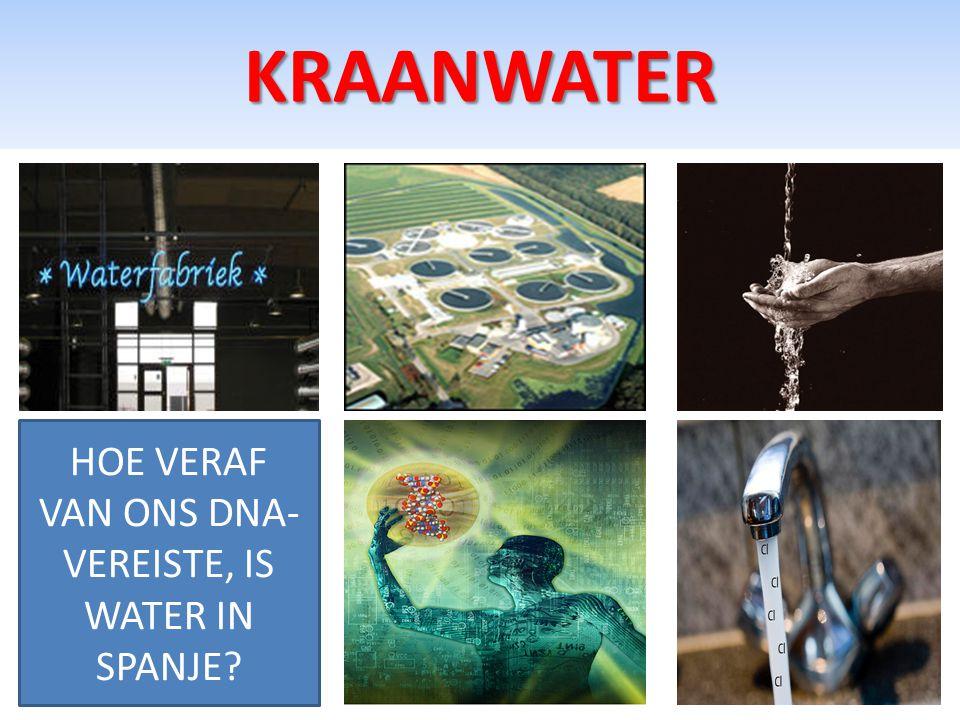 KRAANWATER HOE VERAF VAN ONS DNA- VEREISTE, IS WATER IN SPANJE?