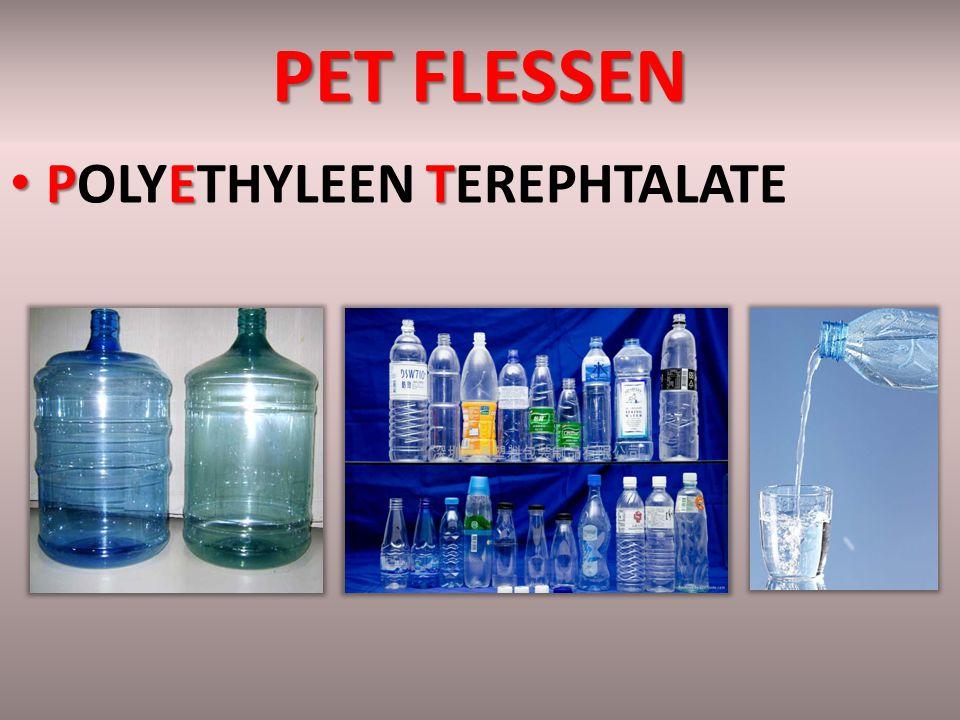 PET FLESSEN PET POLYETHYLEEN TEREPHTALATE