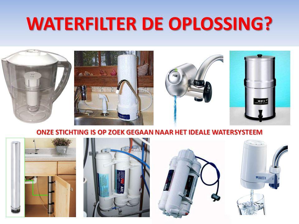WATERFILTER DE OPLOSSING? ONZE STICHTING IS OP ZOEK GEGAAN NAAR HET IDEALE WATERSYSTEEM