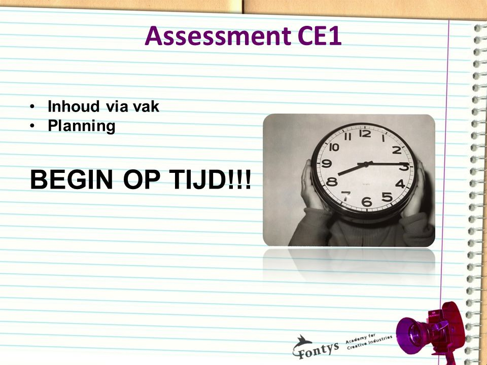 Assessment CE1
