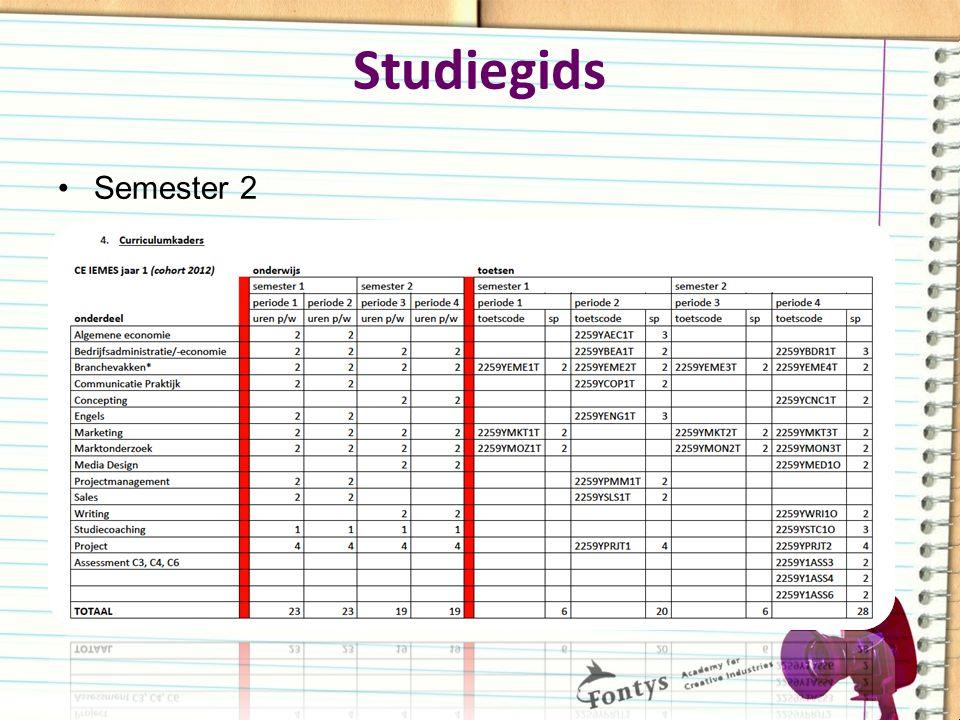 Studiegids Semester 2