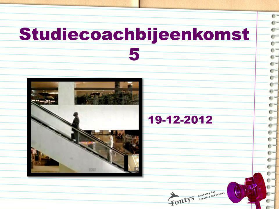 Studiecoachbijeenkomst 5 19-12-2012