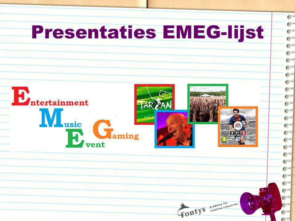 Presentaties EMEG-lijst