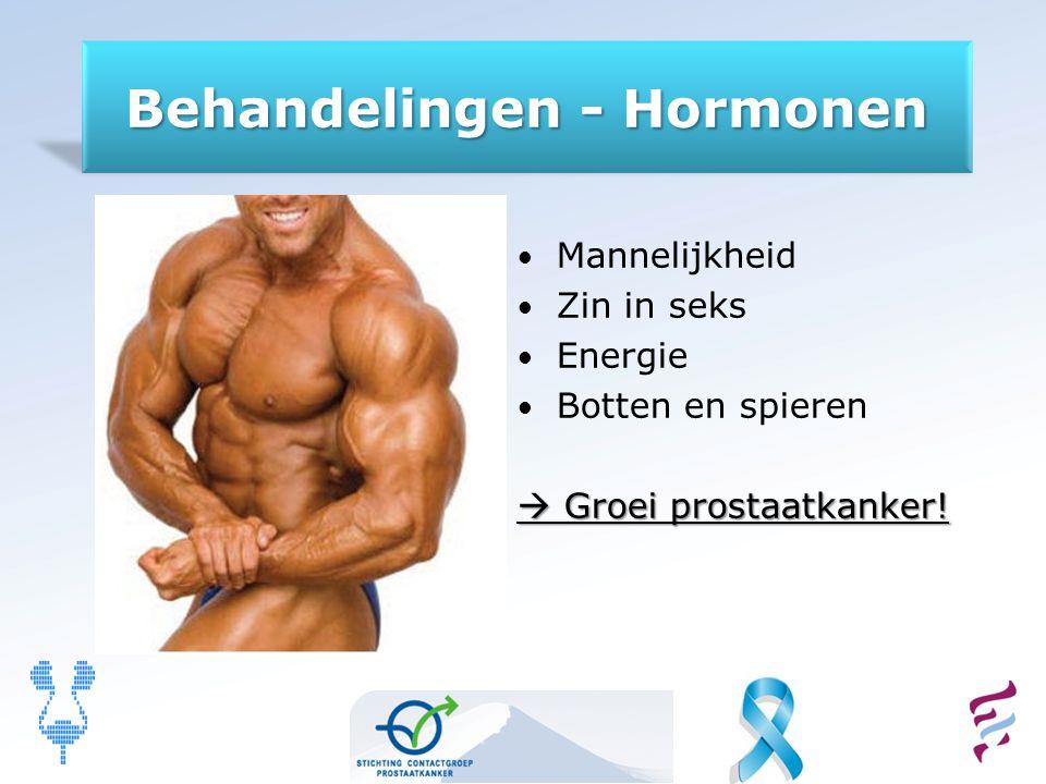 Mannelijkheid Zin in seks Energie Botten en spieren  Groei prostaatkanker!