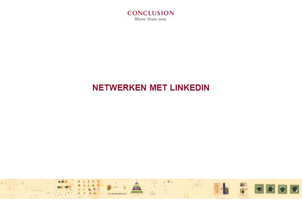 NETWERKEN MET LINKEDIN