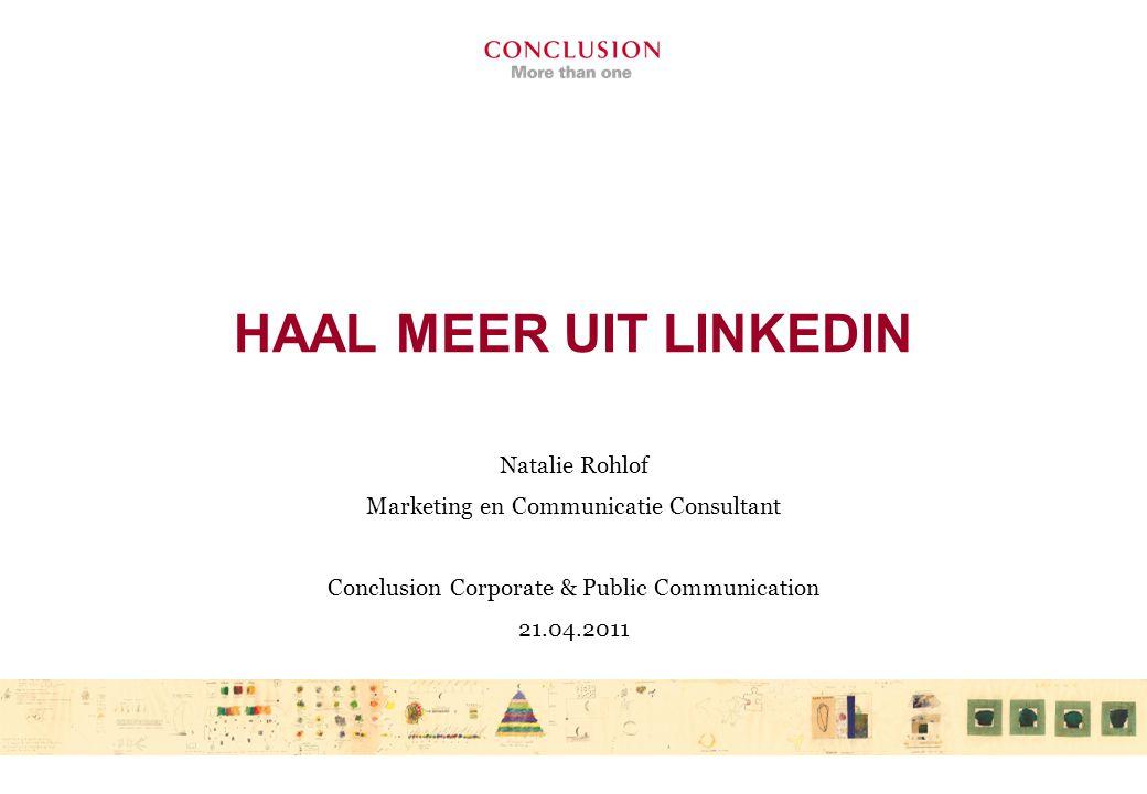 LinkedIn voor communicatieadviseurs rijksinspecties Kennisdeling Burgers betrekken Sentimenten peilen Aankondigingen Promoties