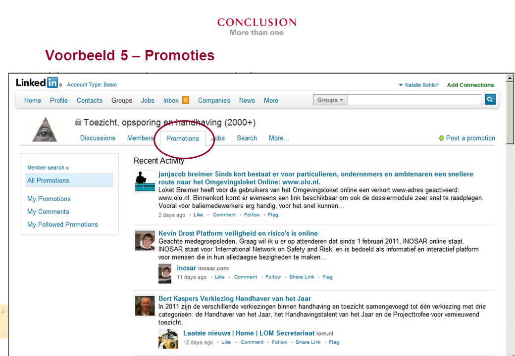 Voorbeeld 5 – Promoties