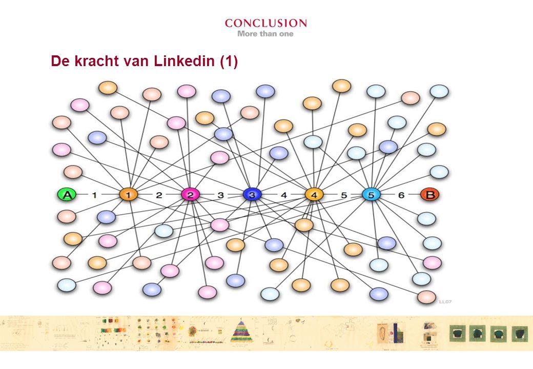De kracht van Linkedin (2) Zit in de tweede graad DUS in het netwerk van jouw netwerk.