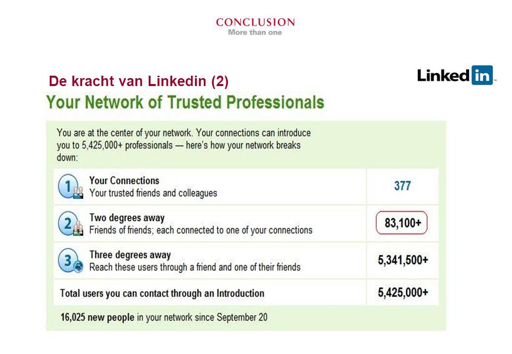 Aan de slag met LinkedIn 1.Maak je profiel compleet 2.Breid je netwerk uit 3.Zorg dat je gevonden wordt
