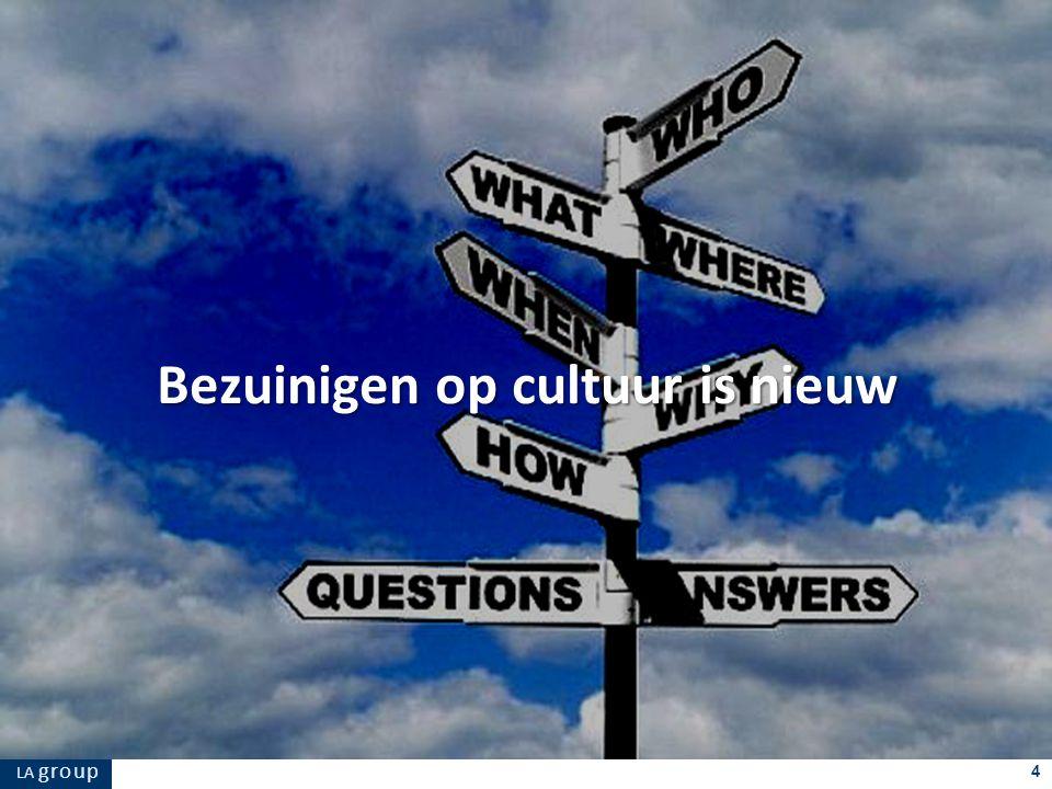 LA g r o u p 4 Bezuinigen op cultuur is nieuw