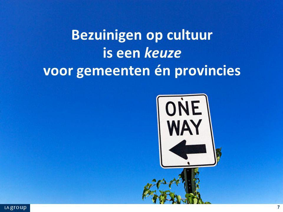 LA g r o u p 7 Bezuinigen op cultuur is een keuze voor gemeenten én provincies