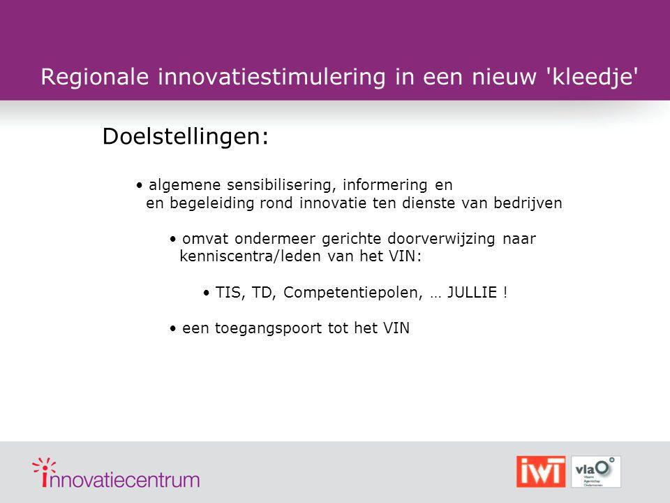 Het Vlaams Innovatienetwerk past het nieuwe kleedje www.innovatienetwerk.be