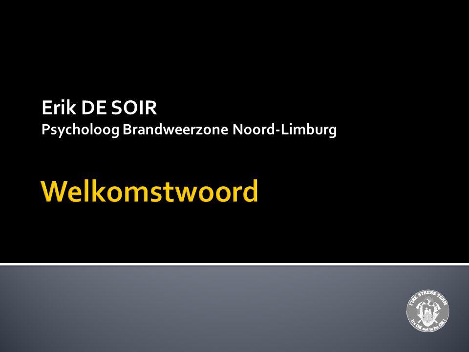 Erik DE SOIR Psycholoog Brandweerzone Noord-Limburg