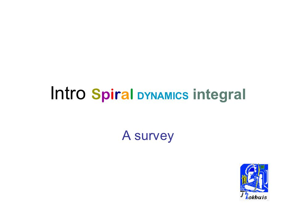 Intro Spiral DYNAMICS integral A survey