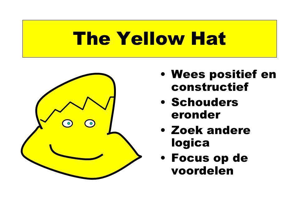 The Yellow Hat Wees positief en constructief Schouders eronder Zoek andere logica Focus op de voordelen