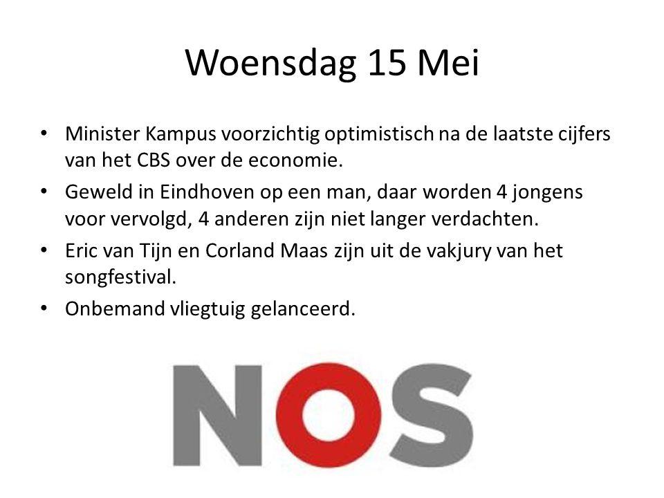 Woensdag 15 Mei Minister Kampus voorzichtig optimistisch na de laatste cijfers van het CBS over de economie.