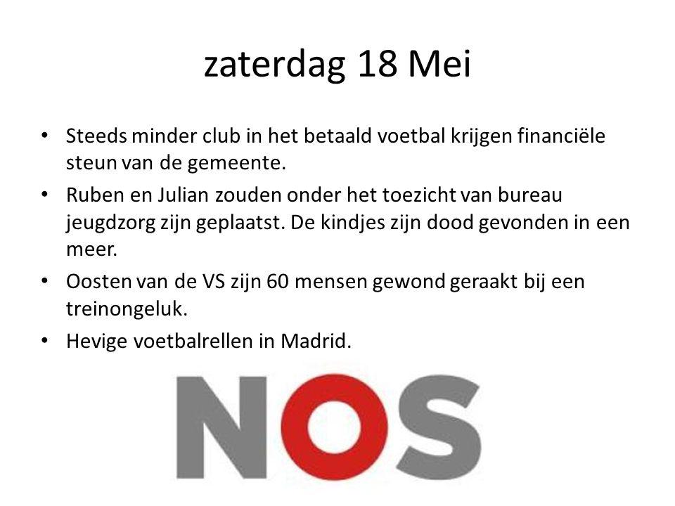 zaterdag 18 Mei Steeds minder club in het betaald voetbal krijgen financiële steun van de gemeente.